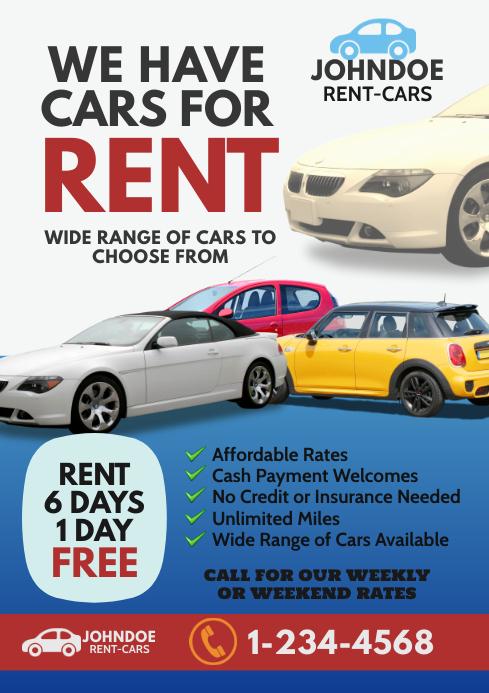 Rent a Car Flyer A4 template