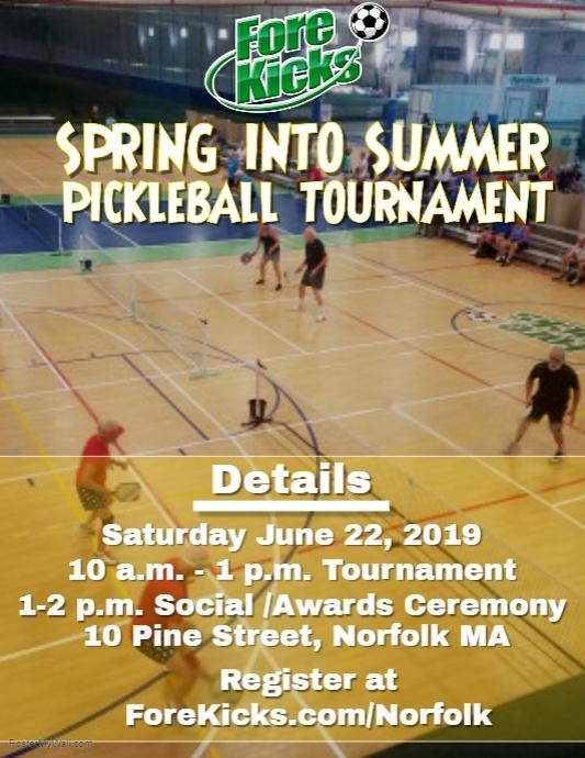 Spring Into Summer Pickleball Tournament