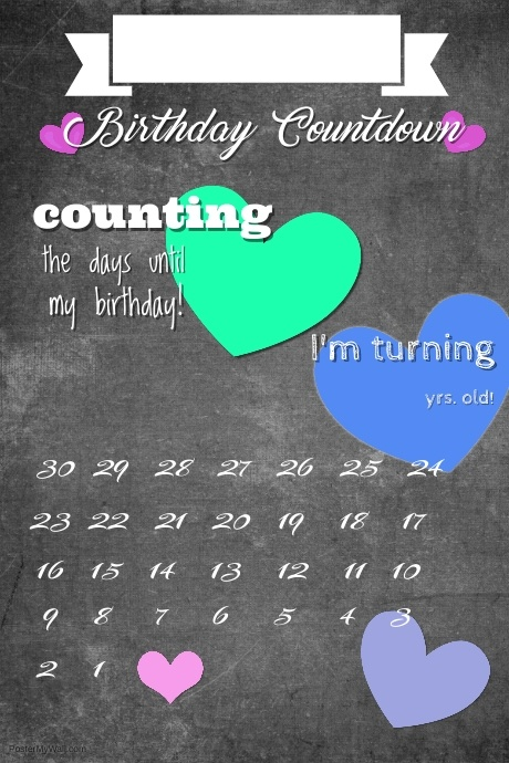 Copy Of Valentine S Birthday Poster Postermywall