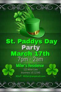 St. Patrick's Day Party Invite Template