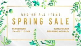 Floral Spring Sale Digital Display Video