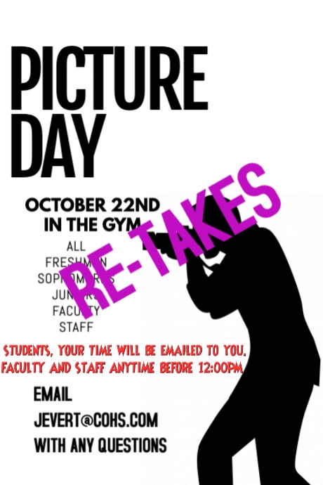 Picture retake Day flyer Design Template Poster
