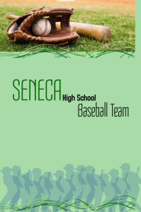 Baseball Team Poster template
