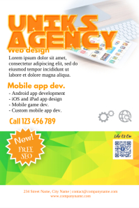 Promotional flyer for agency and corporate