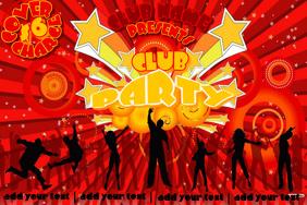 CLUB EVENT PARTY ROCK BAND DISCO VENUE RETRO FLYER