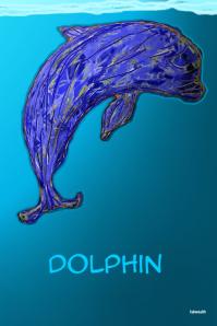 Dolphin custom art print @ postermywall