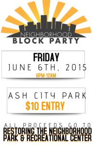 Neighborhood Block Party Community Fundraiser Charity Donate Environment Park Recreational Event