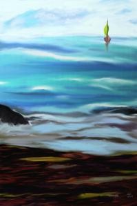 A Sail Boat & the Sea..artistic poster #artprints #wallart #oceananic