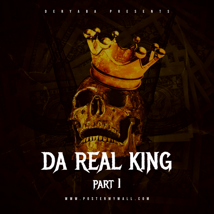 Da Real King Part 1 CD Cover Art Template