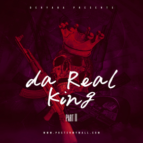 Da Real King Part 2 CD Cover Art Template Albumcover