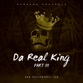 Da Real King Part 3 CD Cover Art Template