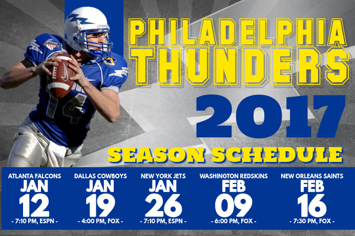 Football Schedule Poster Template