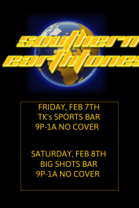 Black Gold Yellow Earth Environment World Recycle Band Bar Event Schedule Flyer Poster