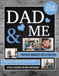 dad and me flyers, father's day flyers 传单(美国信函) template