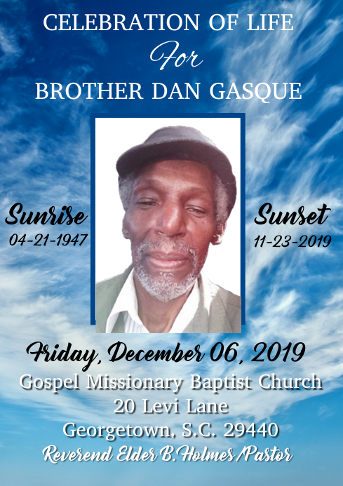Daddy's Obiturary A4 template