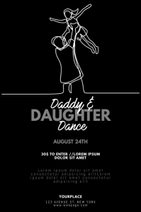 Daddy and Daughter Dance Day Flyer Template