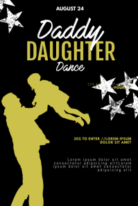 Daddy Daughter Dance Day Flyer Template