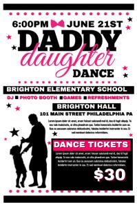 Daddy Daughter Dance Flyer In Dance Recital
