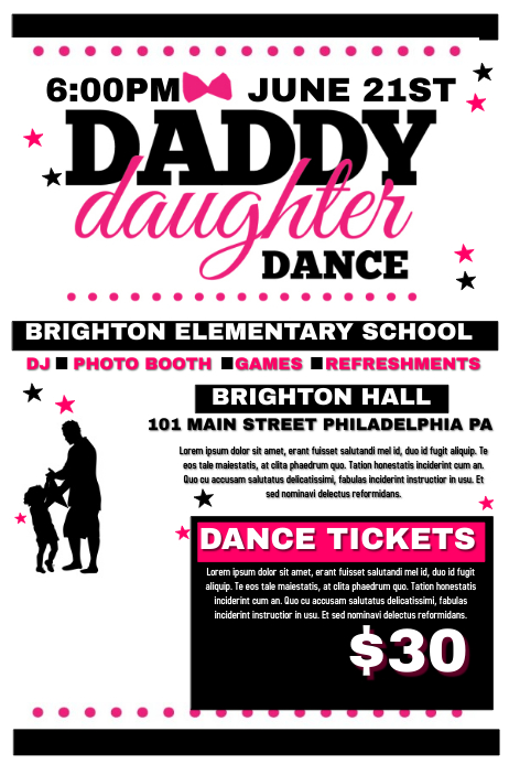 Daddy Daughter Dance Template Postermywall