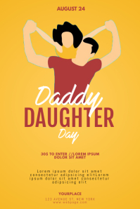 Daddy Daughter Day Flyer Template