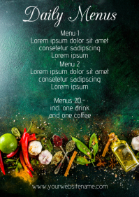 Daily Menu Template A4 Restauran