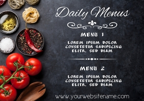 Daily Menu Template A4 Restaurant