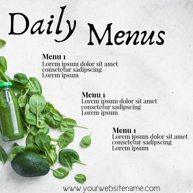 Daily Menu Template A4 Restaurant Instagram Post