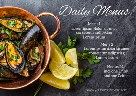 Daily Menu Template A4 Restaurant