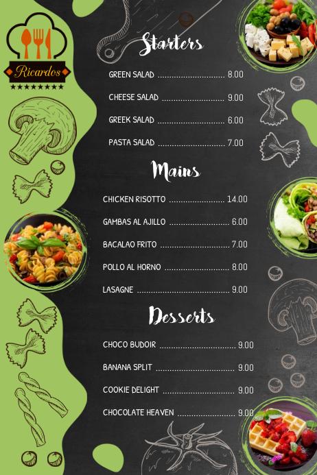daily menu template