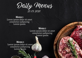 Daily menus Flyer template A4 Veggies Restaur