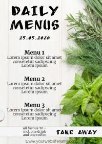 Daily menus Template A4 Portrait veggies