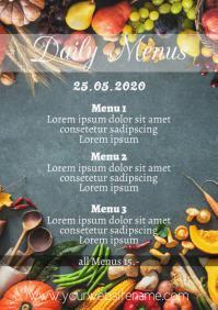 Daily menus Template A4 Portrait veggies