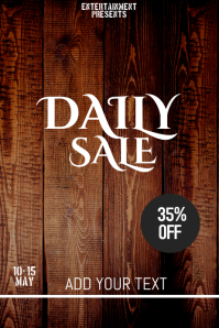 Daily sale flyer template