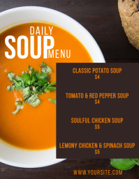 Daily Soup Menu Card Printable Flyer 2 template