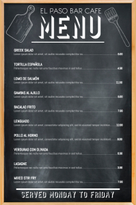 Daily Specials Menu Template
