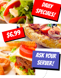 Daily Specials Restaurant Flyer