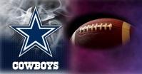 Dallas Cowboys Facebook Gedeelde Prent template