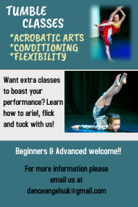 Dance, Tumble, Gymnastics, poster, performance, competition
