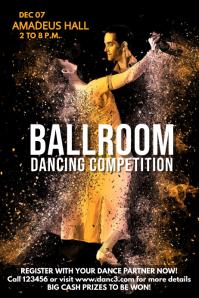 Ballroom dancing contest poster template