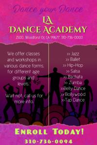 dance academy poster/flyer template