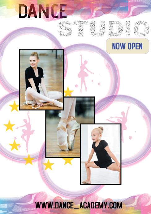 Dance Academy Flyer A5 template