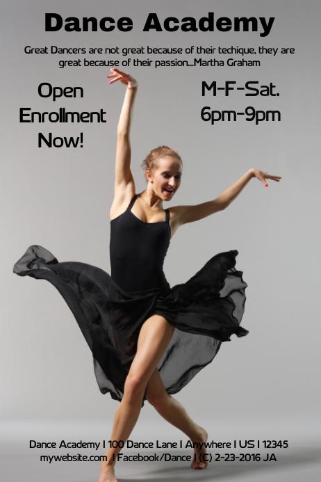 Dance Academy Flyer