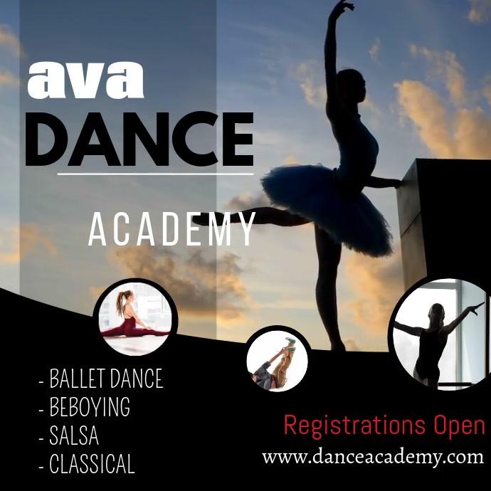 Dance Academy Video Flyer for instagram Instagram-bericht template