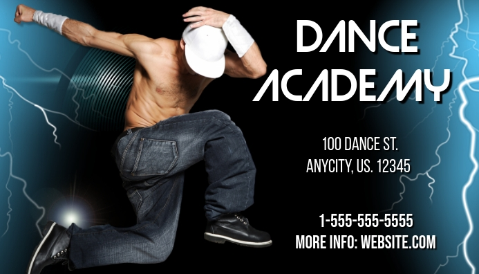 Dance Acedemy Business Card
