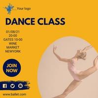 DANCE AND BALLET Instagram Post template