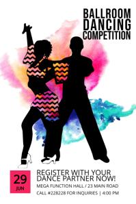 ballroom dancing poster template