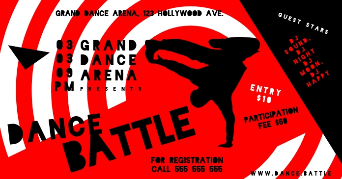 Dance Battle Banner Template Postermywall