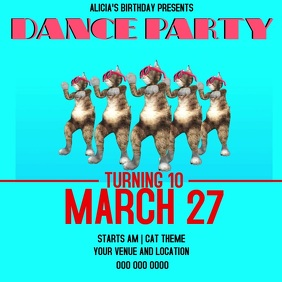 DANCE BIRTHDAY PARTY TEMPLATE โพสต์บน Instagram