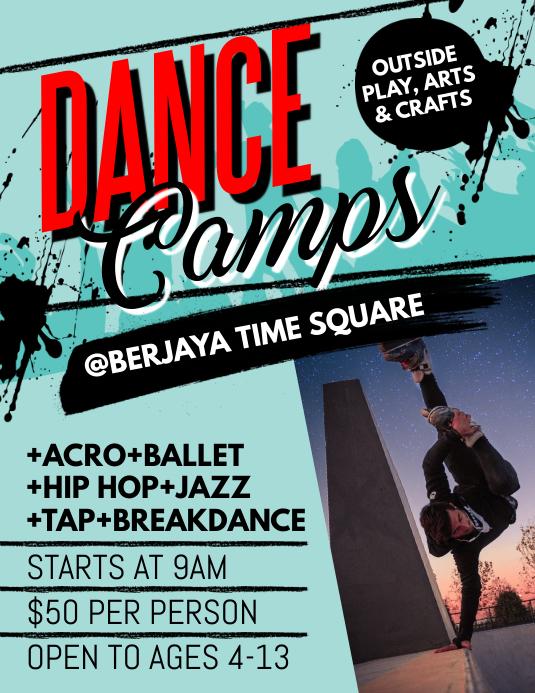 Dance Camps Flyer Folder (US Letter) template