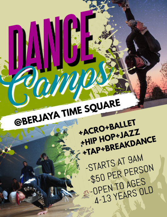Dance Camps Flyer